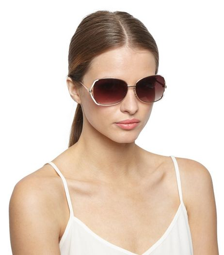 Cream Oversized Rectangle Sunglasses | New Look