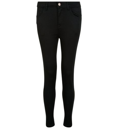 Petite 28in Black Supersoft Super Skinny Jeans  | New Look