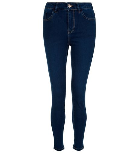 Petite 28in Navy Supersoft Super Skinny Jeans | New Look