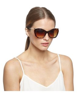 Brown Tortoiseshell Frame Cat Eye Sunglasses  | New Look