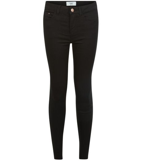 Petite 28in Black Skinny Jeans  | New Look