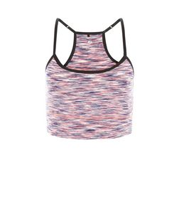 Pink Space Dye Yoga Sports Crop Top  | New Look