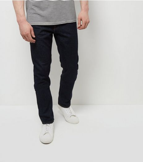 Navy Rinse Washed Slim Fit Jeans | New Look