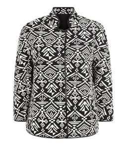 Mela Black Aztec Print Jacket | New Look
