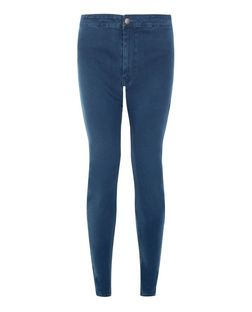 Navy High Waist Super Skinny Jeans  | New Look