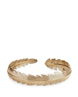 Gold Leaf Wrap Armcuff | New Look