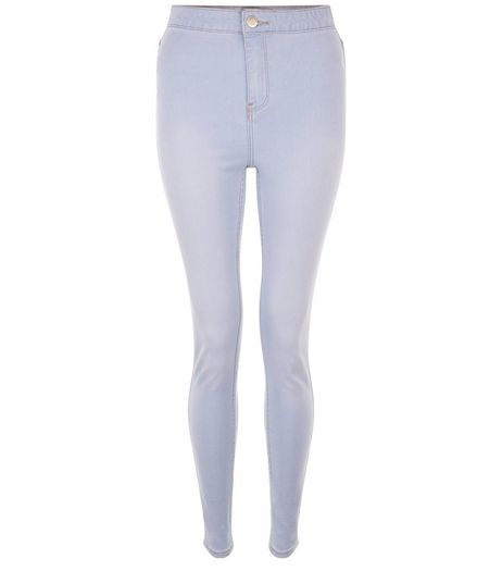 Pale Blue High Waist Super Skinny Jeans  | New Look