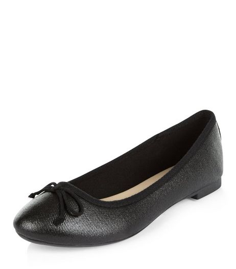 Black Coated Ballet Pumps  | New Look