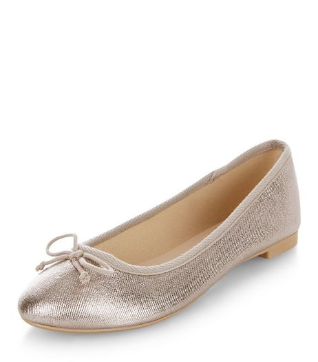 Silver Ballet Pumps  | New Look