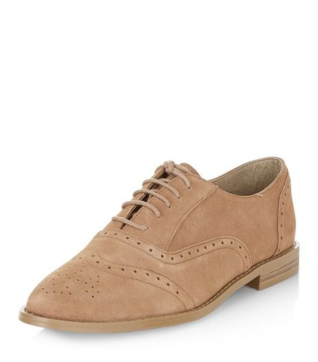 Light Brown Leather Brogues  | New Look