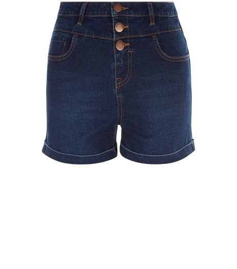 Teens Navy High Waisted Shorts | New Look