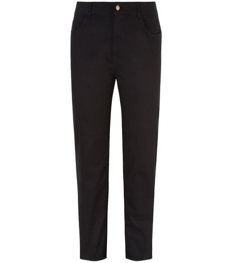 Curves Black Straight Leg Jeans | New Look