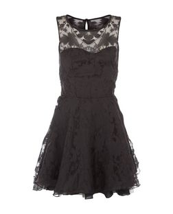 AX Paris Black Kick Out Dress  | New Look