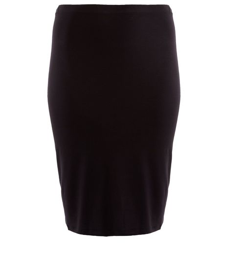 Curves Black Pencil Skirt  | New Look