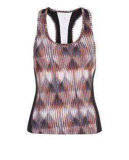Petite Orange Abstract Print Sports Vest  | New Look