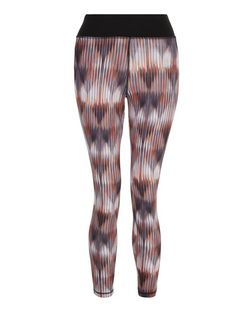 Petite Orange Abstract Print Sports Leggings  | New Look