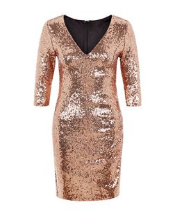Love & Lies Gold Sequin Dress | New Look