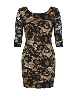 Love & Lies Black Lace Bodycon Dress | New Look