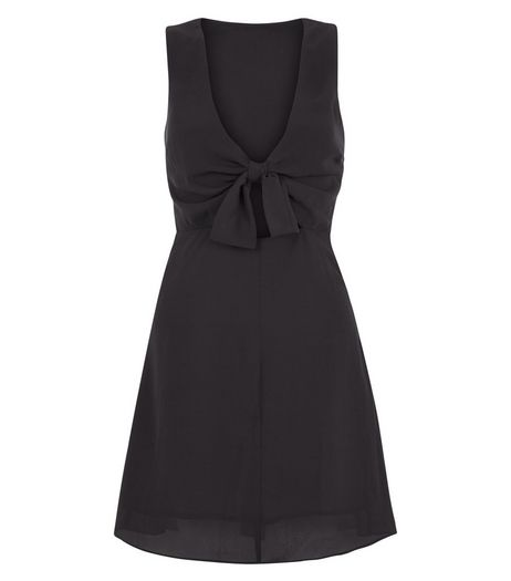 Love & Lies Black Bow Front Dress | New Look