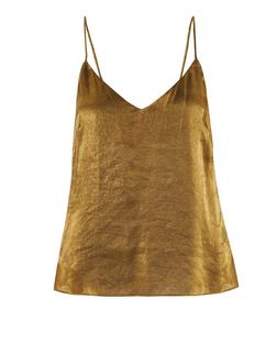 Love & Lies Bronze Metallic Cami  | New Look