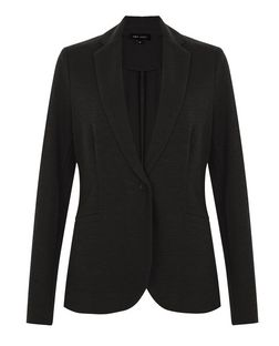 Black Jersey Blazer  | New Look
