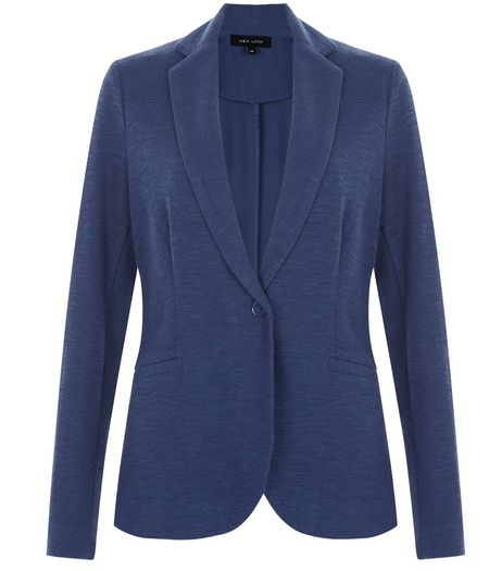 Navy Jersey Blazer  | New Look