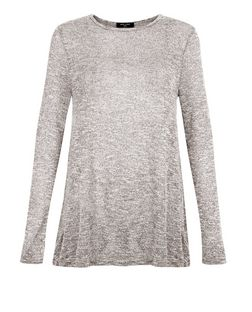 Tall Grey Fine Knit Swing Tunic | New Look