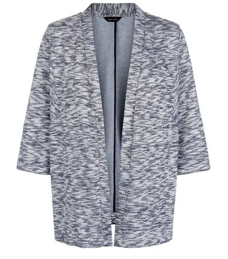 Blue Space Dye Knitted Kimono | New Look