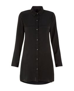 Blue Vanilla Black Pocket Swing Shirt  | New Look
