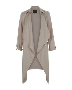 Mink Waterfall Duster Coat  | New Look