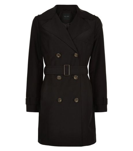 Black Belted Trench Coat  | New Look
