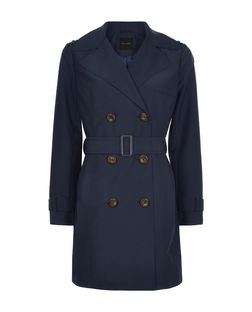 Navy Belted Trench Coat | New Look