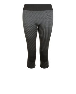 Only Black Diamond Print Seamless Sports Leggings | New Look