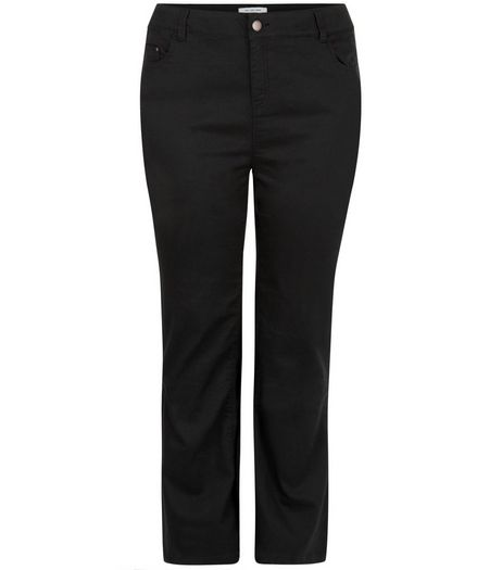 Curves Black Bootcut Jeans | New Look