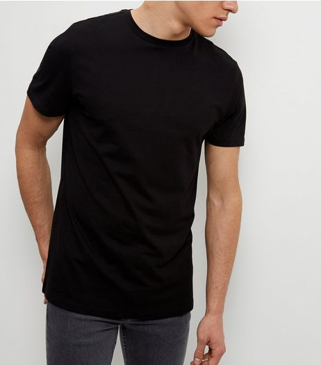 Black Crew Neck T-Shirt  | New Look