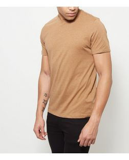 Camel Crew Neck T-Shirt | New Look