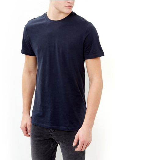 Navy Crew Neck T-Shirt | New Look
