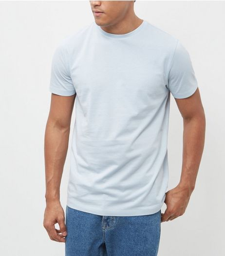 Pale Blue Crew Neck T-Shirt | New Look