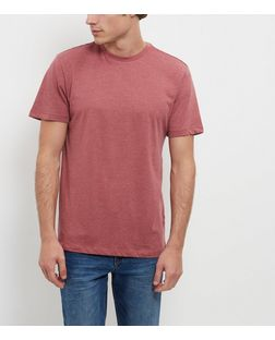 Dark Red Crew Neck T-Shirt | New Look