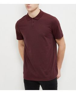 Burgundy Basic Polo Shirt  | New Look