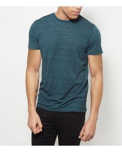 Teal Space Dye Crew Neck T-Shirt | New Look