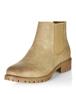 Light Brown Textured Chunky Chelsea Boots | New Look