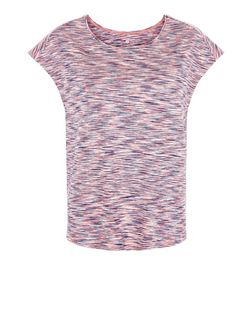 Pink Space Dye Yoga Sports Top  | New Look