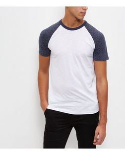 Navy Raglan T-Shirt  | New Look