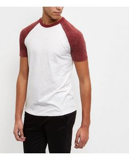Burgundy Raglan T-Shirt  | New Look