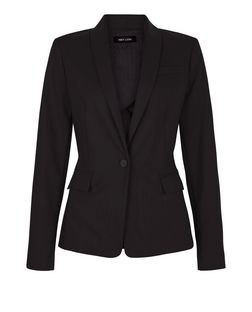 Black Single Button Front Blazer  | New Look