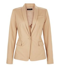 Camel Single Button Front Blazer  | New Look