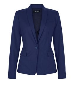 Navy Long Sleeve Blazer | New Look