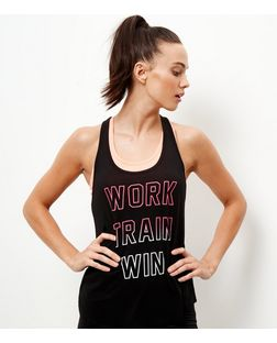 Black Believe Achieve Mesh Panel Vest  | New Look