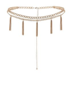 Gold Tassel Chain Belt  | New Look